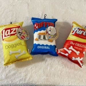Dog toys chip bags squeaky toys new set of 3